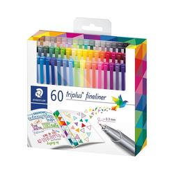 STAEDTLER Fineliner Fineliner triplus, 60 Farben