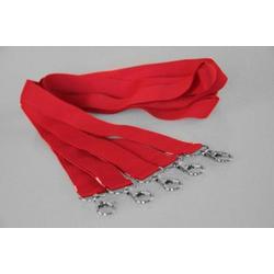 5 Umhängebänder | SET | rot | 20 mm