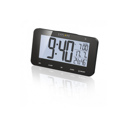 EXPLORE SCIENTIFIC Funkwecker mit LCD Bildschirm & Lichtsensor inkl. Hygrometer