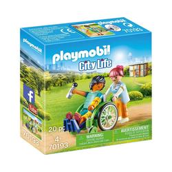 Playmobil® Konstruktions-Spielset PLAYMOBIL® 70193Patient im Rollstuhl