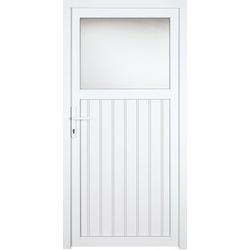 KM Zaun Nebeneingangstür K605P, BxH: 98x208 cm cm, weiß, links