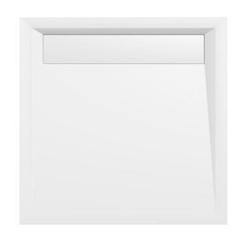 HAK Duschwanne ARENA Duschwanne mit Rinne und Füßen, Quadratduschwanne mit Eckschürze, Mineralguss, 2-St., 90x90x4 cm Quadratduschwanne mit Eckschürze - 90 cm x 4 cm x 4 cm
