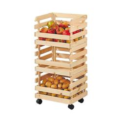 Kesper Regalwagen Kartoffel-& Obstkisten Rollregal 3tlg