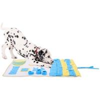lionto by dibea Schnüffelteppich für Hunde Suchteppich Trainingsmatte (L) 100 x 60 cm gelb-blau