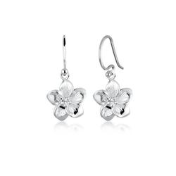 Elli Ohrhänger-Set Frangipani Blüten Kristalle 925 Silber, Frangipani Blüte