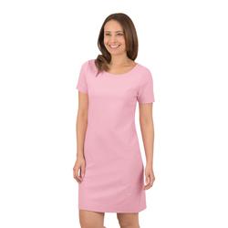 Trigema Halbarm Kleid mit Swarovski Kristallen rosa Damen Minikleider Kleider