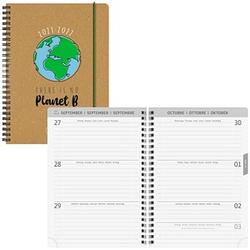 BRUNNEN Schülerkalender No Planet B Juli 2021 - Dezember 2022 braun