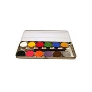 Corvus A190612 - Eulenspiegel: Schminke, 12 Farben inkl. 2 Pinsel