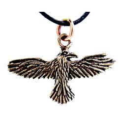 Kiss of Leather Kettenanhänger Odins Rabe Rave Odinsrabe Odin Hugin Munin Anhänger Bronze
