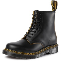 Dr. Martens 1460 Double Stitch black+yellow smooth slice 39
