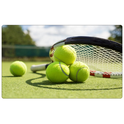 DesFoli Wandtattoo Tennis Tennisball Tennisplatz R0613 bunt 90 cm x 58 cm