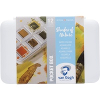 Van Gogh van Gogh, Pocket Box, Shades of Nature, Wasserfarbkasten 12 Farben