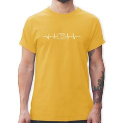Shirtracer T-Shirt Herzschlag Foto Kamera - Symbole - Herren Premium T-Shirt - T-Shirts fotografie kamera symbole fotograf t-shirt XL