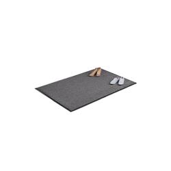 Fußmatte Schmutzfangmatte grau, relaxdays, Höhe 7 mm 180 cm x 120 cm x 7 mm