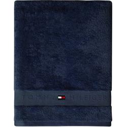TOMMY HILFIGER Badetuch Frotteeuni (1-St), in vielen Farben erhältlich blau