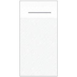Mank UNI Pocket-Napkins Besteckservierttentasche, 40 x 40 cm, 1/8 Falz, 4-lagig, Farbe: weiss, 1 Karton = 4 x 75 Stück = 300 Serviettentaschen