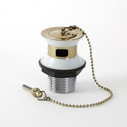 Antik Ablauf mit Stöpsel & Kette für Waschbecken mit Überlauf, antikes Gold - Alice