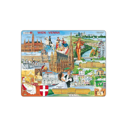 Larsen Puzzle Rahmen-Puzzle, 64 Teile, 36x28 cm, Wien, Puzzleteile