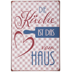 Ib Laursen Metallschild Metallschild Blechschild Schild Die Küche ist das Herz Ib Laursen 8972-00