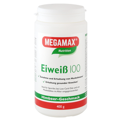 Megamax Eiweiss 100 Himbeer Pulver