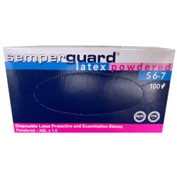 Semperguard® Einmalhandschuhe, Latex, gepudert, Farbe: weiß, 1 Packung = 100 Stück, Größe: S