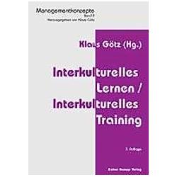 Interkulturelles Lernen / Interkulturelles Training - Buch