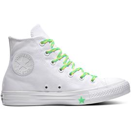 Converse Chuck Taylor All Star Hi white light green white