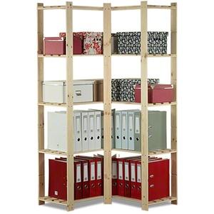 Eckregal Holzregal Kellerregal Lagerregal Bücherregal 5 Böden 170x85x38 / B-20*