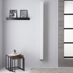 Design Heizkörper Mittelanschluss 180x10cm 459W Weiß - Una, extra schmal