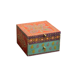 Casa Moro Schmuckkasten Orientalischer Schmuckkasten Shanti mit einer Schublade, Aufbewahrung für Schmuck & Schminkutensilien, RK65, Kunsthandwerk mit Paisley Muster