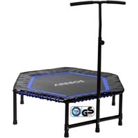 Arebos Fitness Trampolin Hexagon 114 cm blau