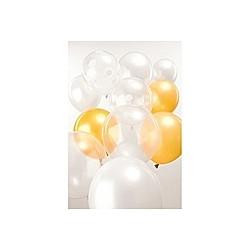 Ballons Mix, Weiss, Gold
