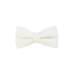 DonDon Fliege DonDon Herren Fliege 12 x 6 cm Baumwolle (1-St) bereits gebunden, verstellbar, Tweedlook weiß