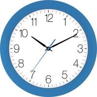 EUROTIME 88800-08-3 Quarz Wanduhr 30cm x 4.5cm Tulpenblau Schleichendes Uhrwerk (lautlos)