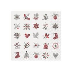 stewo Papierserviette Winter Motive, (20 St), 33 cm x 33 cm