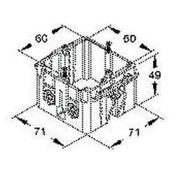 Niedax GDHR 50-2 Doppeldose, Grau