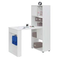 Office Schreibtisch mit Regal Weiß