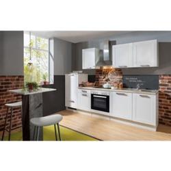 Menke Küchen Küchenzeile Premium White Landhaus 270 cm