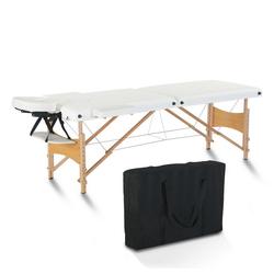 FCH Massageliege Massagebank klappbare Therapieliege (Set, mit Tasche), Tragbares Massagebett Massagetisch Arbeitsgewicht bis zu 250 kg weiß