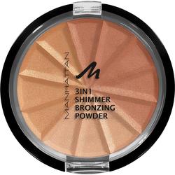 MANHATTAN Bronzer-Puder 3in1 Shimmer braun