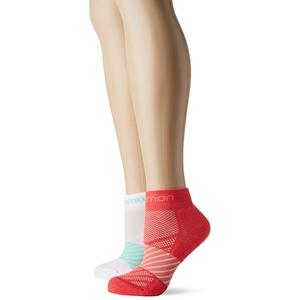 Salomon, 2 Paar niedrig geschnittene Kinder-Socken, XA JR 2-PACK, Polyester/Polyamid, Gr. XSK (24-26), Rosa/Weiß (Hibiscus/White), LC1133000