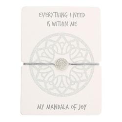 Armband - Mandala der Freude - Edelstahl