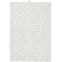 Ib Laursen Geschirrtuch IB Laursen Geschirrtuch Weiß mit Grünen Tannenbäumen