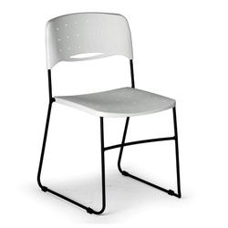 Plastikstuhl square square, schwarz/weiß, 3+1 gratis