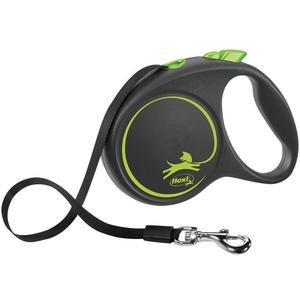 flexi Flexileine BLACK DESIGN Gurtleine, Kunststoff grün L