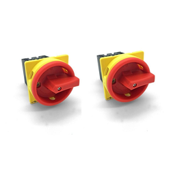 ARLI Schalter ARLI 2x Hauptschalter 16A 4 polig fronteinbau Drehschalter Trenn 4P16A-E Schalter (2-St)