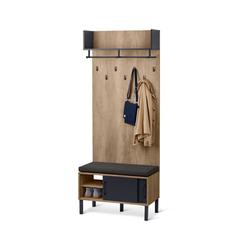 Garderobe mit Sitzbank im Industrial Style