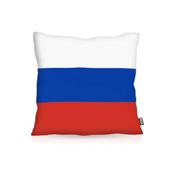 Kissenbezug, VOID, Russland Russia Flagge Fahne Fan Fussball EM WM 50 cm x 50 cm