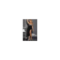Langes Kleid Andalea schwarz/grau
