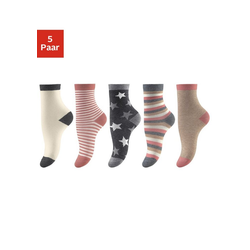 Socken (5-Paar) in 5 verschiedenen Designs 31-34